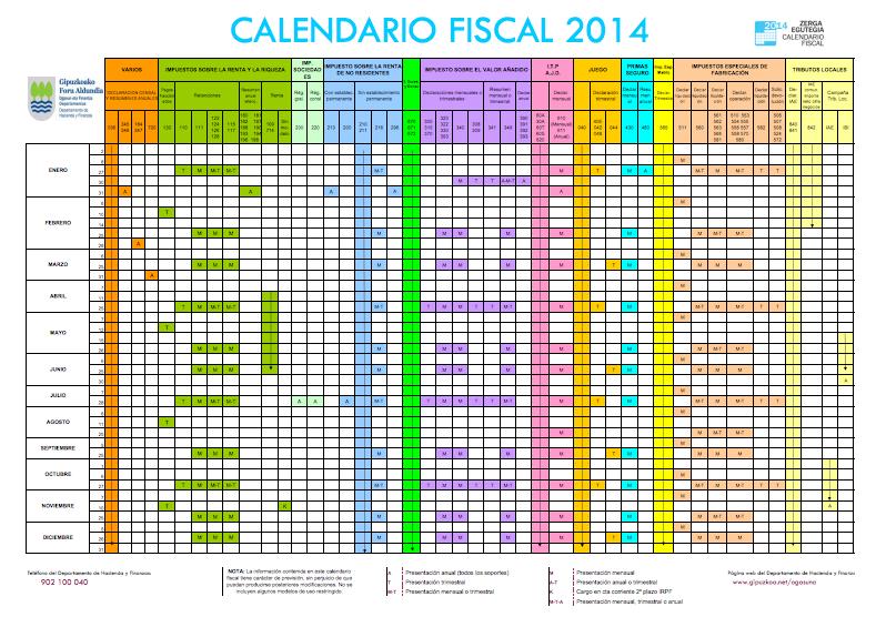 Calendario Fiscal.Calendario Fiscal 2014 Thinknnova Asesoria Integral
