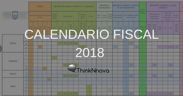 Calendario Deusto.Calendario Fiscal Gipuzkoa 2018 Thinknnova Asesoria En Donostia